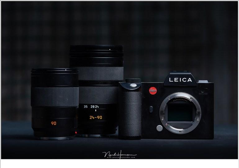 De set die ik gebruikt heb: een Leica SL met VARIO-ELMARIT-SL 1:2.8-4/24-90 ASPH. en VARIO-ELMARIT-SL 1:2.8-4/24-90 ASPH.