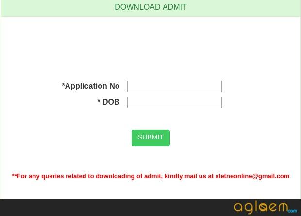 Assam SLET  Admit Card