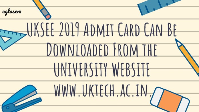 UKSEE 2019 Admit Card Download