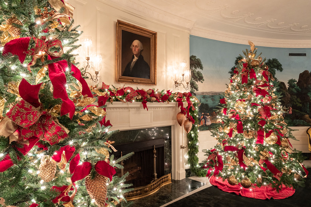 White House Christmas 2018 The Diplomatic Reception Room
