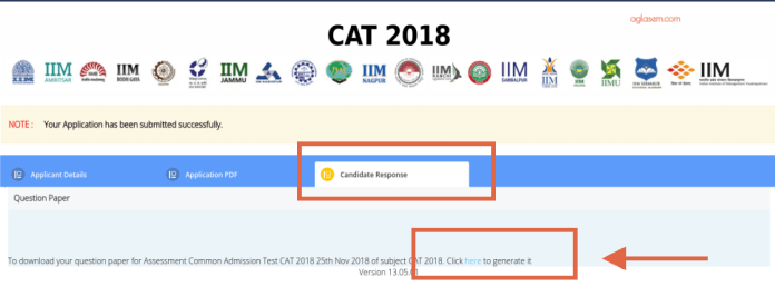 CAT 2018 Response Sheet