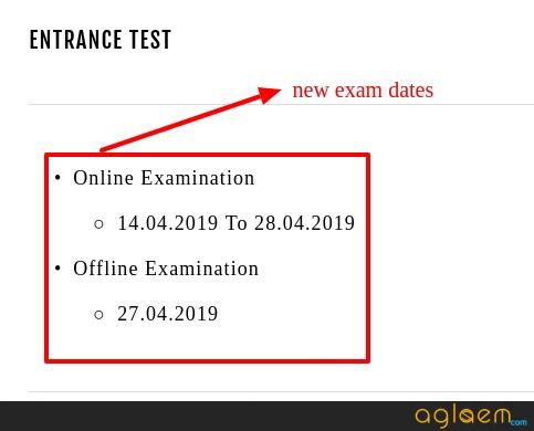 SAAT 2019 Exam Date
