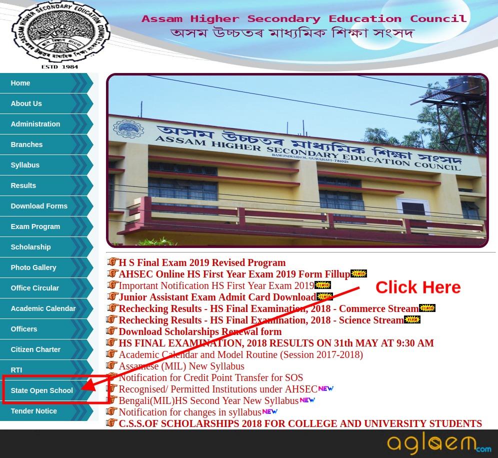 Assam State Open School Result 2020