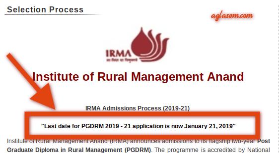 IRMA 2019 Registration Last Date