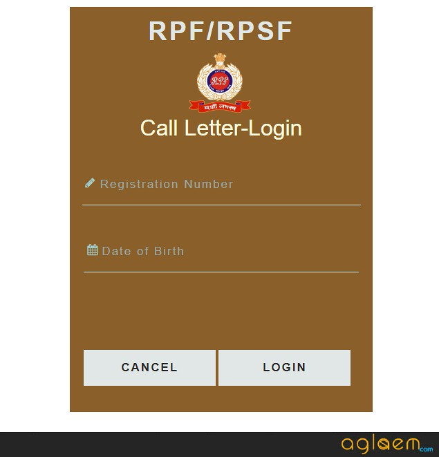 RPF SI and Constable Admit Card 2018