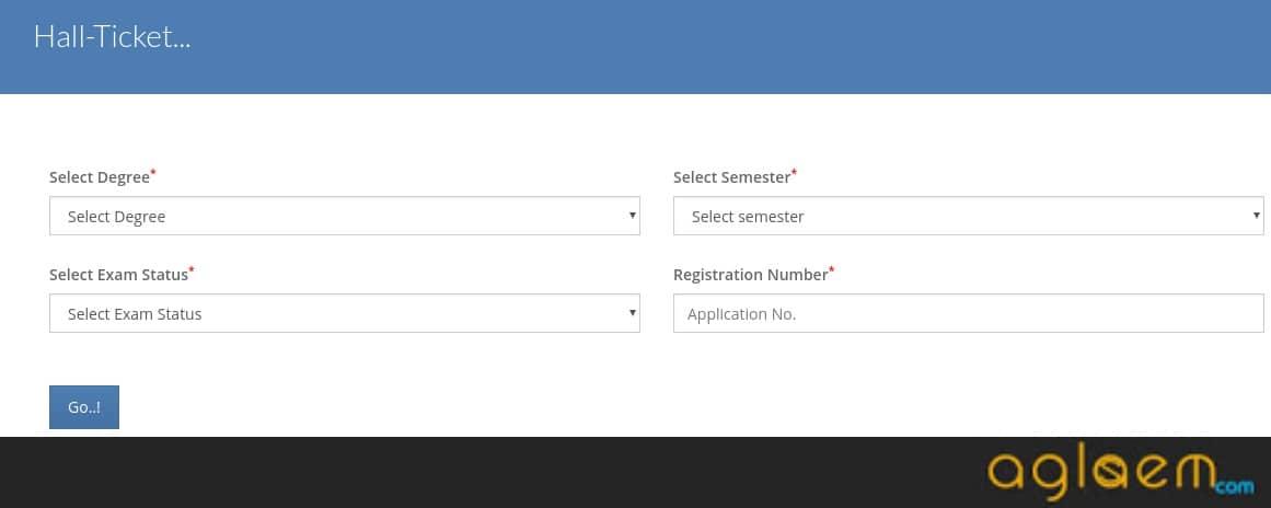 Saurashtra University External Hall Ticket