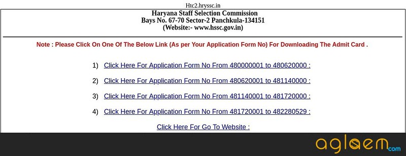 HSSC Group D Admit Card 2018