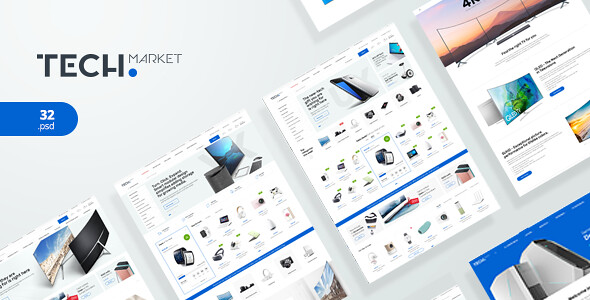 TECHMARKET V1.1 – ULTIMATE SHOPIFY TEMPLATE