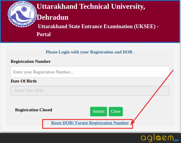 Forgot UKSEE 2021 registration number