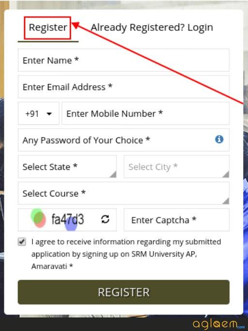 SRM Amaravati B.Tech Admission Registration