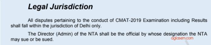 CMAT 2019 Legal Jurisdiction