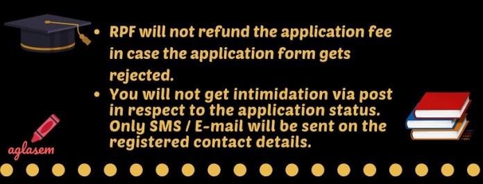 RPF ConstableAncillary Application Status 2019