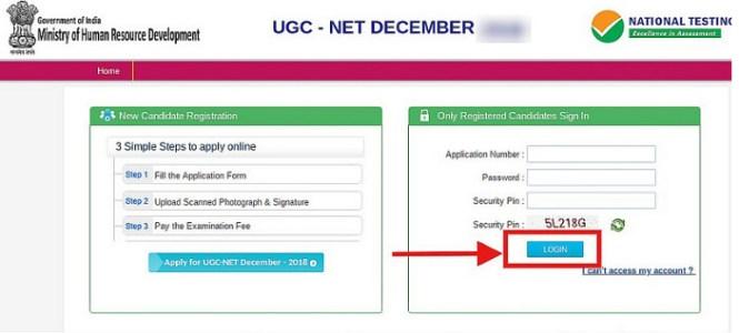 UGC NET Admit Card 2019