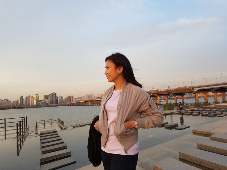sunset at han river
