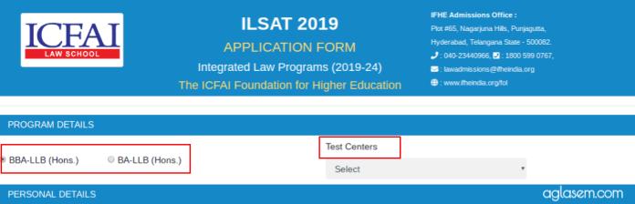 ILSAT 2019 Application form