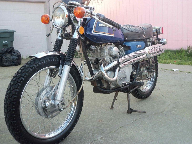 My 1972 Honda Cl175 Cafe Racer Left By Madhatter5353