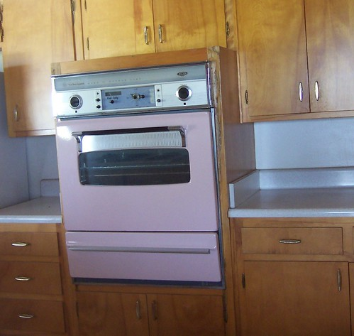 kitchen pulls black trash can pink whirlpool wall oven | in a house i had looked at, and ...