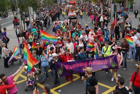 Running Amach at Dublin LGBT+ Pride Parade