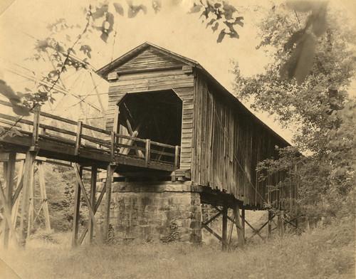 Long Cane Creek Bridge Sepia 1979
