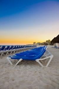 Cancun Mexico | Beach chairs Cancun Mexico sunset ...