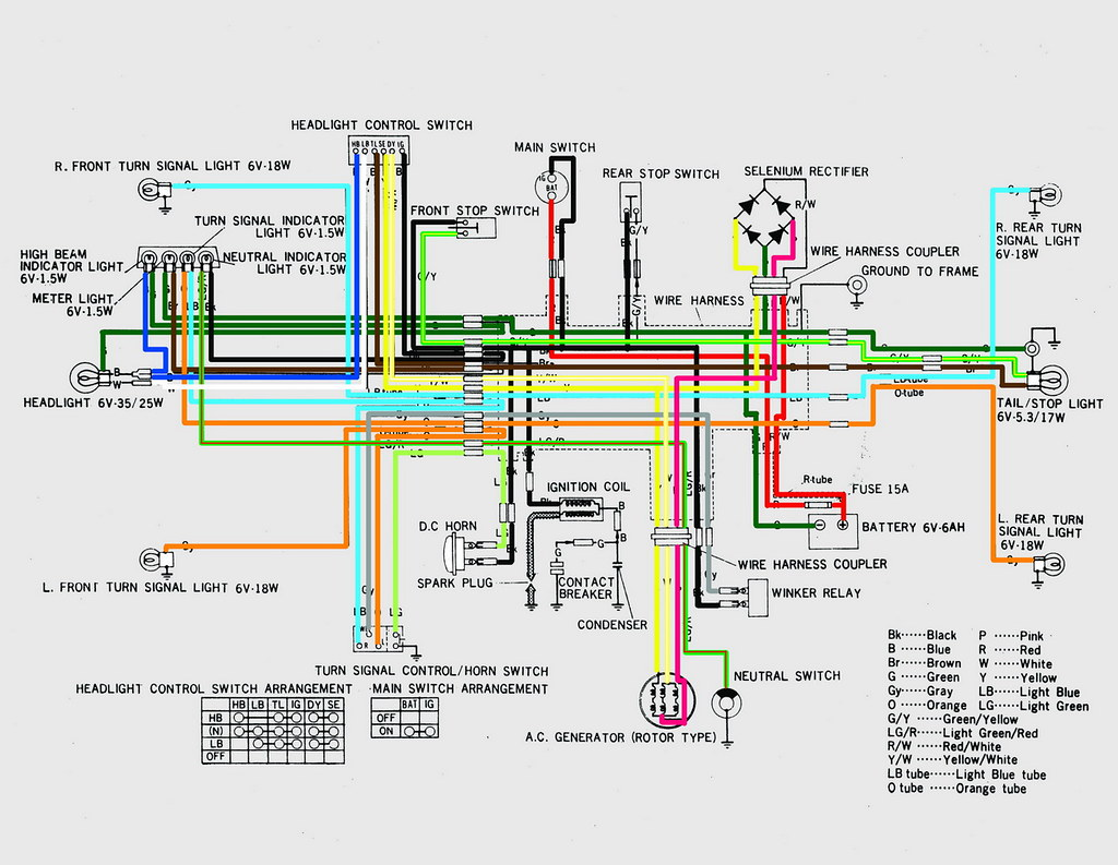 hight resolution of honda cb100 wiring diagram