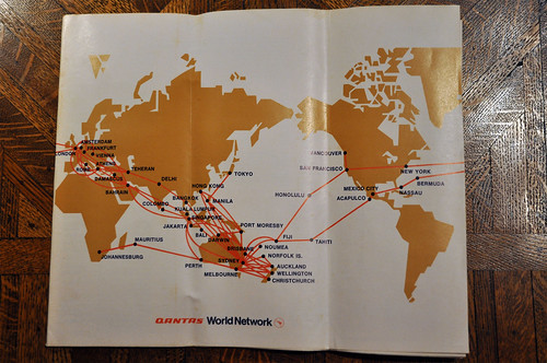 Qantas Route Map 1973 | Comparing to today's QF route networ… | Flickr