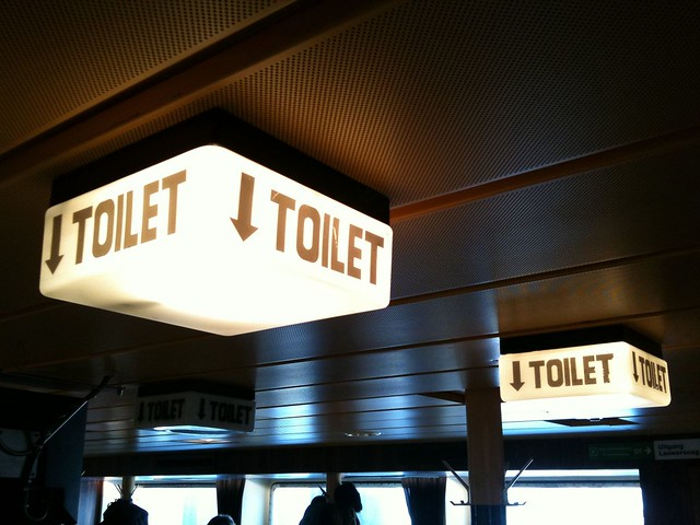 ↓TOILET [on the boat to schiermonnikoog]