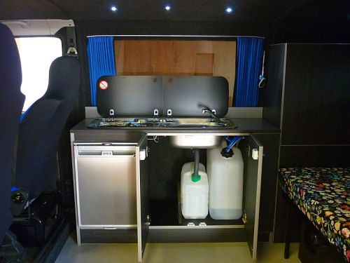 kitchen c custom knives vw t4 camper | vanguard ...