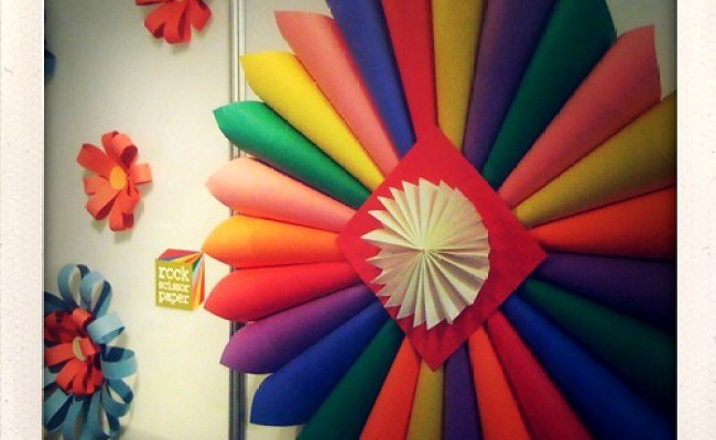 Paper Booth Decorations Detail Of The Rainbow Colored