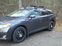 Venza w/ new snows/wheels 2 | 2009 Venza w/ roof rack and ...