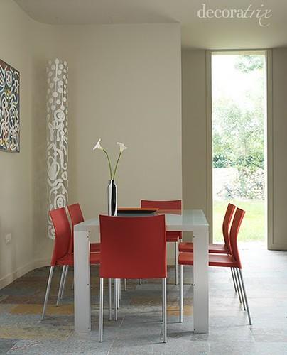 Comedor en gris y rojo  Foto Decoratrix  Decoratrix  Flickr