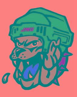 JMU Roller Hockey Logo I traced the Duke Dog39s face and