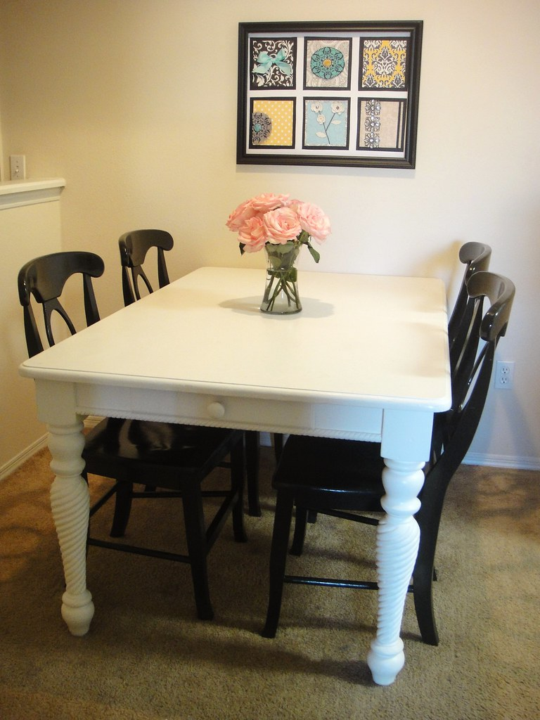 Refurbished Chairs Dining Table And Chairs Refurbished Twogirlsbeingcrafty Flickr