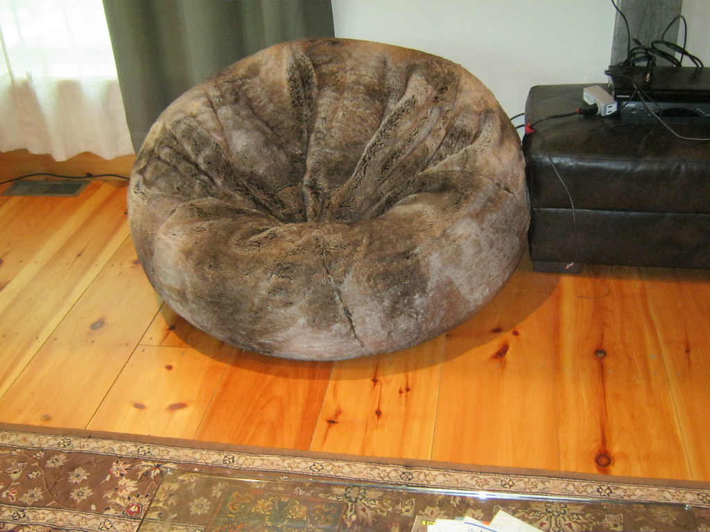 restoration hardware beanbag chair steel tube frame giant furry bean bag from flickr by diwrecked