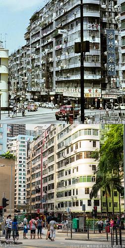 土瓜灣馬頭圍道與馬坑涌道交界1974年   ***拍攝位置: 巴士上 vs 路面*** - 中: 北帝街22-40號 -…   Flickr