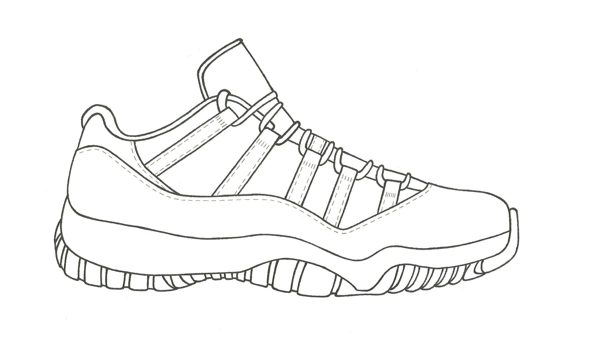 Drawing Of Jordan 11 How To Draw Air Jordan 4