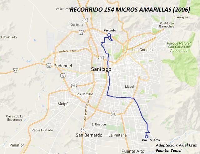 Recorrido 154 Micro Amarilla