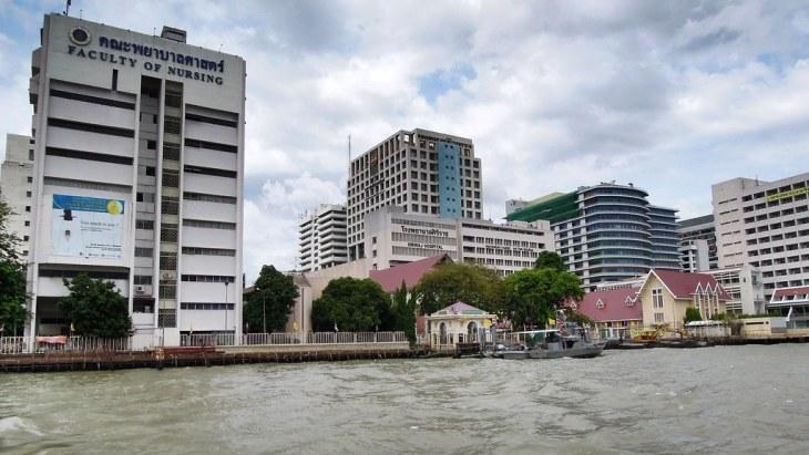 Siriraj Hospital from Chao Phraya River, Bangkok