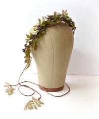 boho crown woodland head piece fern leaf wreath rustic flickr