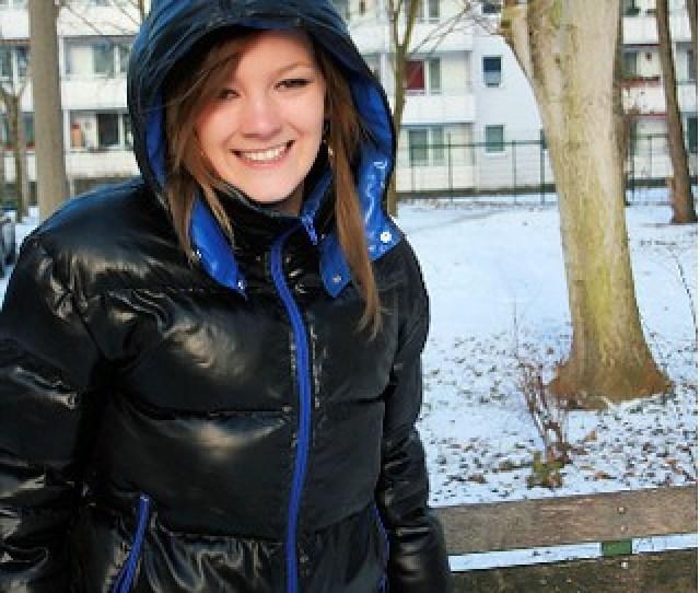 Ghetto Girl In Fat Black Down Jacket By Shinynylonfan