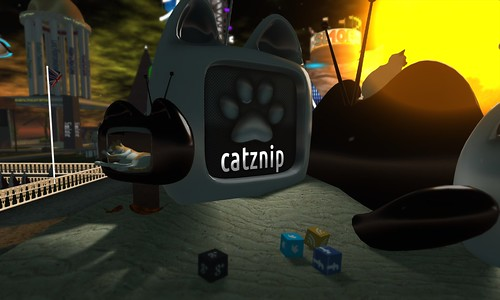 catznip viewer display — too cute, like televisions with cat ears!