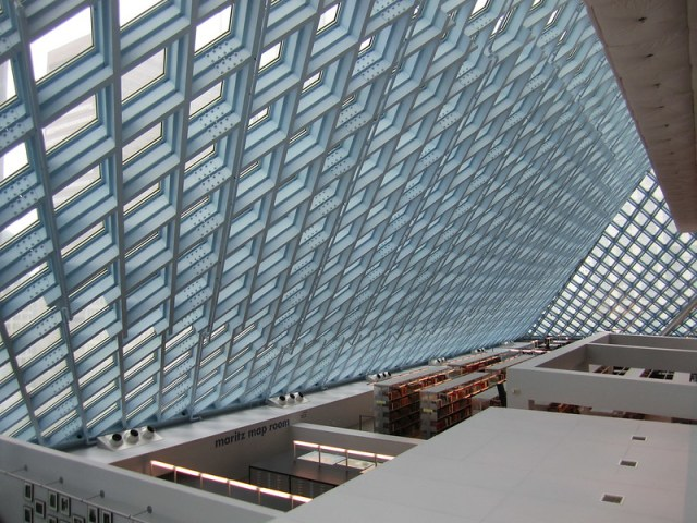 Seattle Central Library atrium