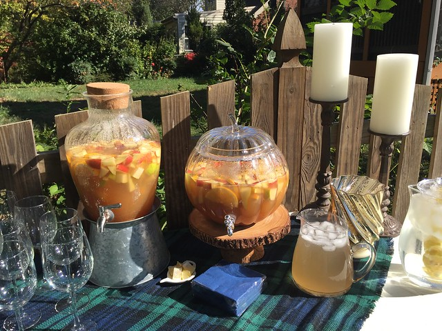 Fall themed baby shower by Calvert Designs apple sangria