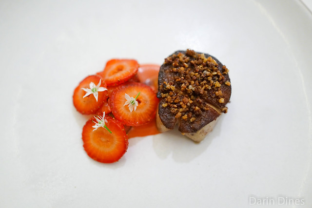 Foie Gras seared with strawberry and onion