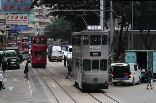 Tram #132 eastbound in Wan Chai