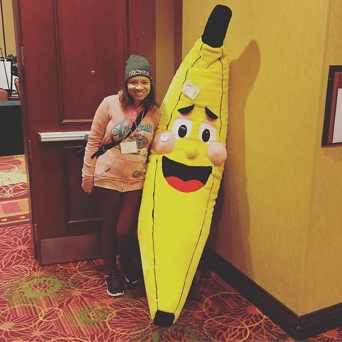 Me with a giant banana! #ChambanaCon 😂😂🍌🍌