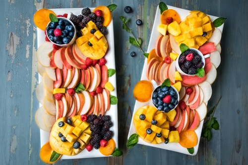 colorful fruit platters made by the Husbands