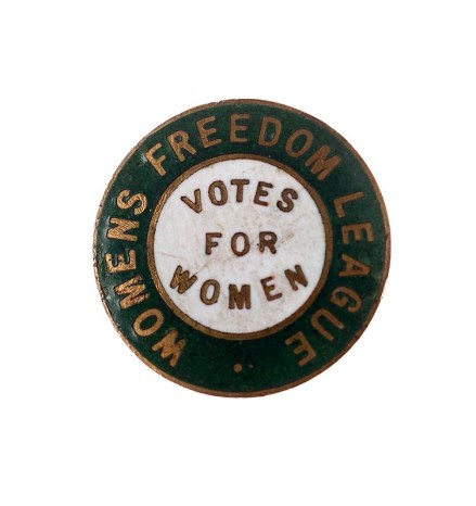 Women's Freedom League badge, c. 1907.