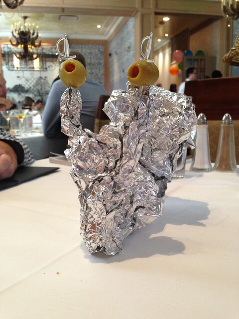 Foil Art: Leftovers Snail at Commander's Place, New Orleans LA