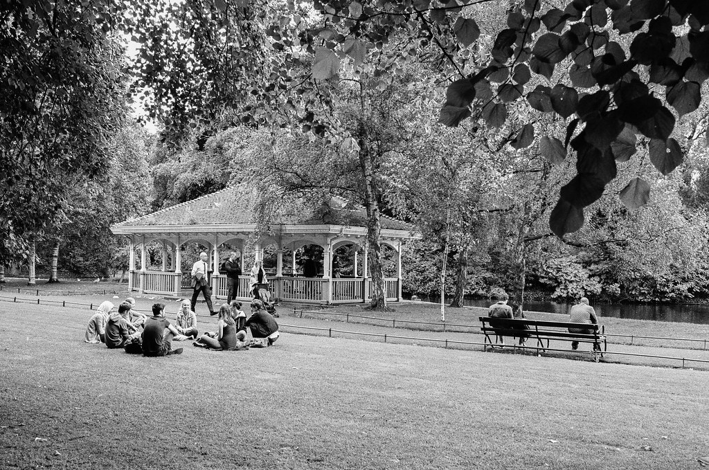 St. Stephen's Green in Dublin on Kodak T-Max 400 film